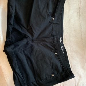 Mossimo black jean shorts!